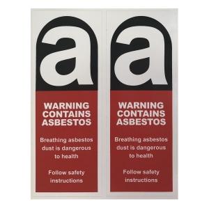 Sticker Warning Cont. Asbestos 90 x 230mm