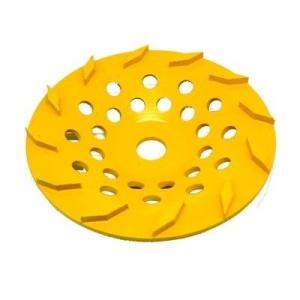 250mm Yellow 12 Segment Diamond wheel